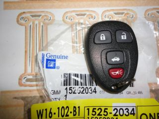Malibu Cobalt 4 Button Key Fob Remote New w Extended Range