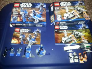 Lego Star Wars 7913 Clone Trooper and 7914 Mandalorian Battle Packs