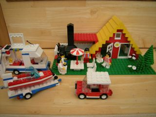 LEGO 6388 VINTAGE 89 SUMMER BEACH HOUSE HOLIDAY CAMPER VAN SET GIRLS
