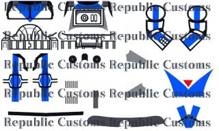 Lego Star Wars Custom Clone 501st Season 4 Clone Trooper Dogma Decals