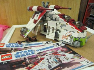 Used Lego Star Wars 7676 Republic Attack Gunship