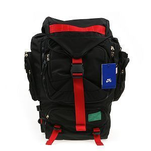 Nike SB Eugene Backpack Black Red Blk Kobe Lebron Skateboard Supreme