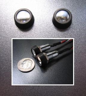 Small Black LED Motorcycle Brake Running Lights
