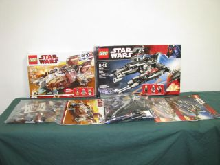 Lot of 2 Lego Star Wars Sets Pirate Tank 7753 Rogue Shadow 7672