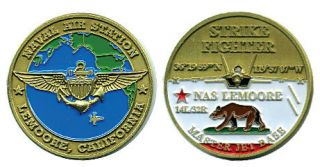 NAS Lemoore Navy Strike Fighter Jet Challenge Coin