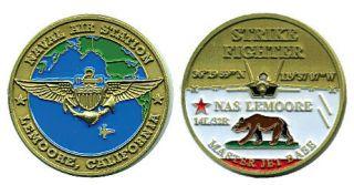 NAS Lemoore Navy Strike Fighter Jet Challenge Coin