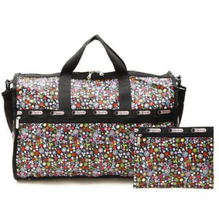 LeSportSac Poppet Large Weekender Bag Travel Tote Pouch Duffel Duffle
