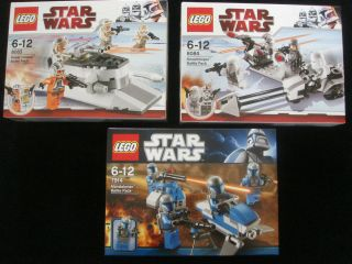 Lego Star Wars Battle Packs Snowtroopers Rebels Mandalorians 8083 8084