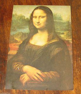 LEONARDO DA VINCI MONA LISA VINTAGE POSTCARD JACQUELINE GUILLOT PHOTO