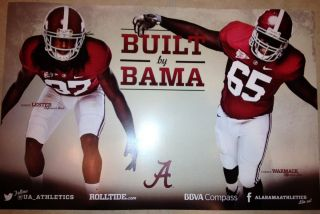 Crimson Tide Football Poster Robert Lester Chance Warmack