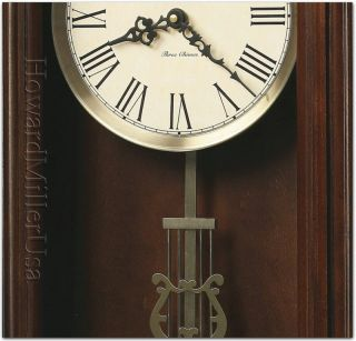 Howard Miller Contemporary Cherry finish wood wall clock  LEWISBURG