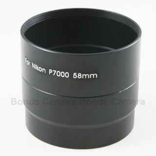 58mm Lens Adapter Tube for Nikon Coolpix P7000 Camera