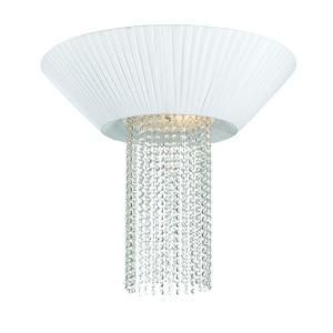 Hampton Bay Leyla 3 Light Flush Mount White Chrome Ceiling Fixture