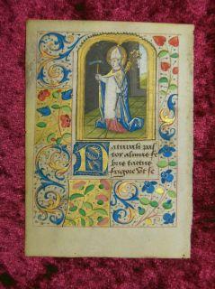 Miniatura Pergamino Libro de Horas Rouen 1485 Ad 7S