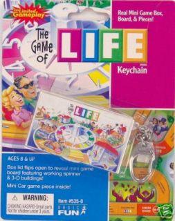 LIFE Board Game KEYCHAIN Basic Fun Keyring miniature travel toy play