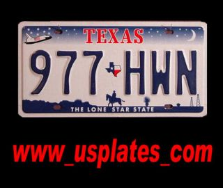 Texas Number License Plate America USA United States Cowboy Shuttle