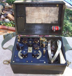ARMY SIGNAL CORPS LIBERTY ELECTRIC RADIO RECEIVING SET BOX TYPE BC