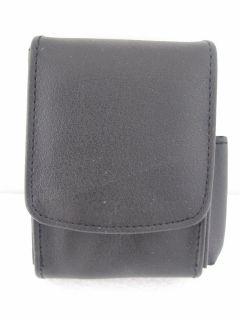 Black Leather Cover Cigarette Case with Side Lighter Holder