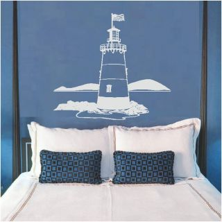 Lighthouse 2 Ocean Beach Sea Wall Art Decal Decals Graphics Vinyl
