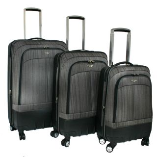 Rockland Milan Collection Spinner 3 PC Luggage Set Gray