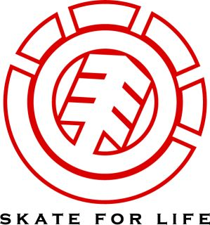 Element Skate for Life Car Bumper Sticker 5 x 5