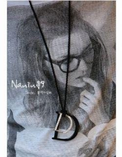 Retro Swarovski Big D Letters Pendant Necklace