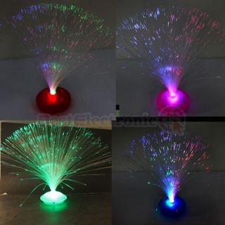 New LED Optic Fiber Lamp Night Light Stand Colorful
