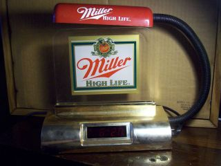 Miller High Life Beer Lighted Digital Clock Register Lamp 1989