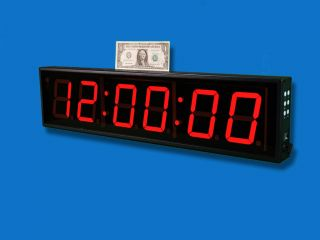 LARGE BIG DIGITAL LED WALL CLOCK COUNTDOWN UP TIMER 6 DIGITS STOPWATCH