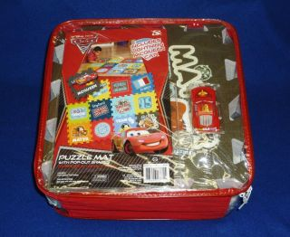 Pixar Cars Puzzle Game Mat with Lightning McQueen Toy Car