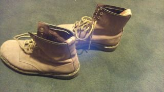 Doc Dr Martens Light Brown Suede Boots Mens US Size 6