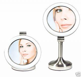 Sunlight Dual Sided Lighted Vanity Makeup Mirror SLV410
