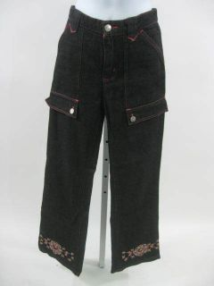 Betsey Johnson Girls Black Designer Jean Pants Sz 14