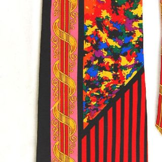 RUSH LIMBAUGH BLACK RED PINK YELLOW BLUE ART DECO SILK NECK TIE