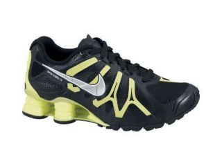 Mens Nike Shox Turbo 13 in Black and Lime Running Walking Casual