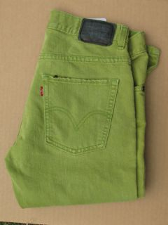 Lime Green Levis 511 Skinny Jeans Womens Waist 29 x 29 Excellent