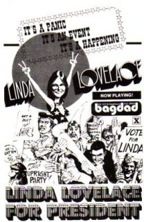 Mint Vintage 1976 Linda Lovelace for President Handbill