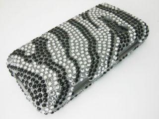 Bling Diamond Zebra Phone Cover Case LG Rumor Touch Sprint Cricket