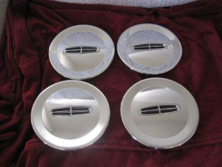 Lincoln Town Car MKZ MKX Zephyr chrome wheel center caps hubcaps set