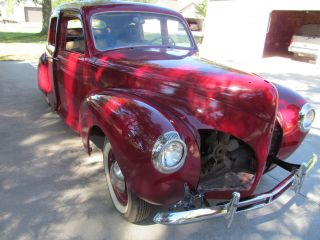 LINCOLN ZEPHYR V12 1940 SOLID PROJECT CAR PARTS RUNS CAN SHIP 40 FORD