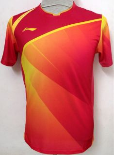 New Li Ning 2012 Olympic Men Badminton Team China Shirt 2038A