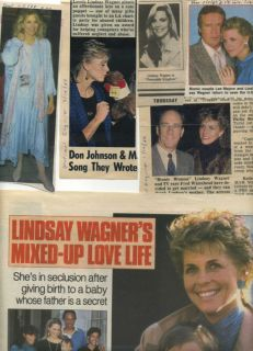 Lindsay Wagner Collectibles 17 Items 1986 1989 Archive
