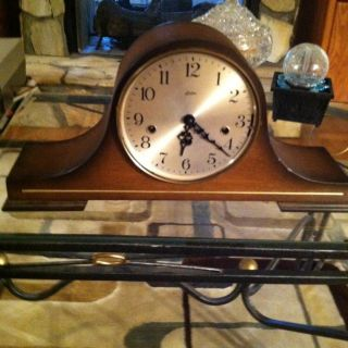 LInden Vintage Chime Shelf Mantel clock 78 1051 020 West Germany 8 Day