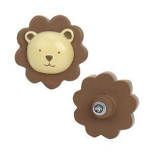 Little Boutique Lion Jungle Drawer Pulls Baby Toddler Room Kids Line
