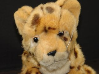 SOS LIFELIKE PLUSH BABY CHEETAH LEOPARD CUB STUFFED ANIMAL TOY WILD