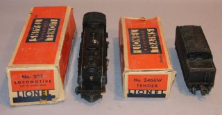 1945 46 LIONEL 224 LOCOMOTIVE O SCALE ENGINE TRAIN LIONEL 2466W HISTLE