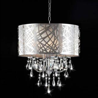 Drum Crystal Chandelier Ceiling Pendant Light Fixture NWO1820