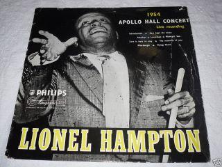 Lionel Hampton Apollo Hall Concert 1954 UK Orig LP