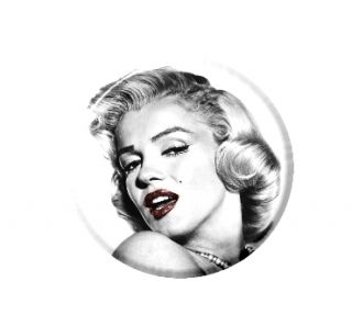Marilyn Monroe Red Lips Necklace Pendant Mirror Button Magnet Bottle