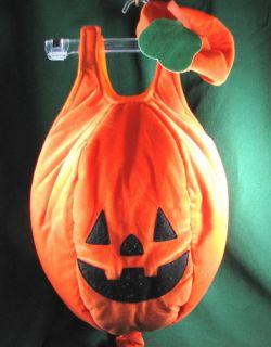 Lillian Vernon Pumpkin Halloween Costume Size 12 24 MTH